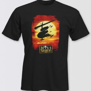 MISS SAIGON Unisex Black Logo TEE SHIRT Sz. Large